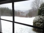 Winter Vally View from Front Sun Porch