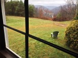 Hilltop Lodge Front Sun Porch View of Valley